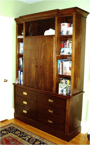 Mahogany Entertainment Center/ Wall Unit