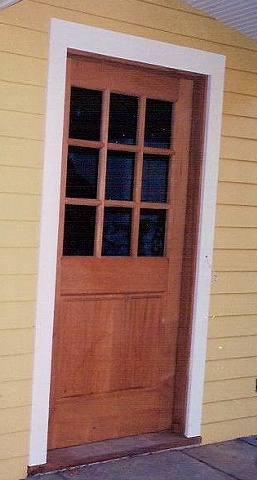 Mahogany Six Lite Door