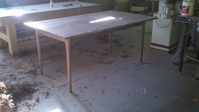 Local Walnut ,Table before finish