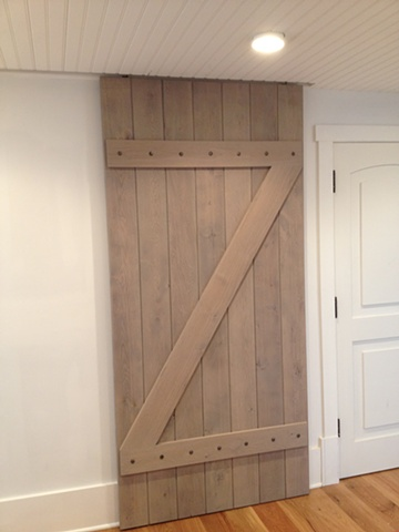 plank door, Character White Oak with a gray wash