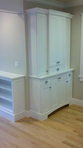 Storage Built-in, FSC certified material for LEED project.