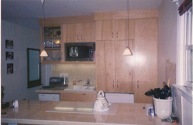 Contemporary Maple Kitchen
