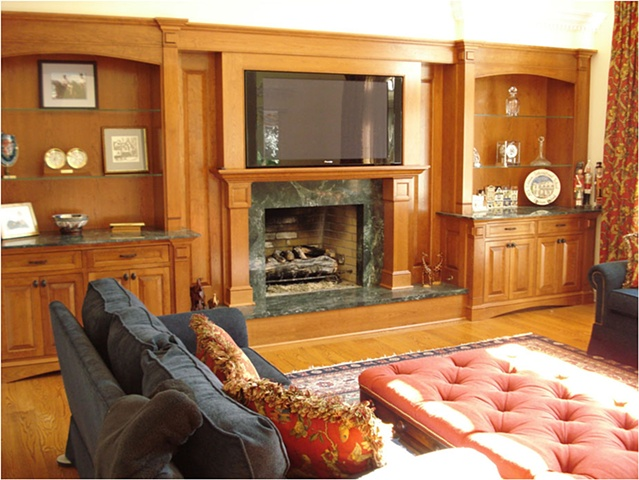 Thomas Duggan Woodworking Full Wall Built In Entertainment Center