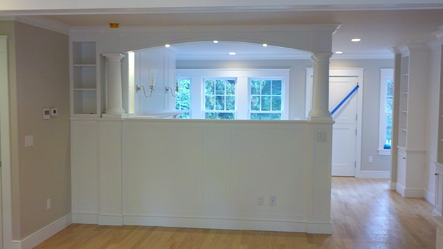 Column and Millwork made using FSC certified material for LEED project