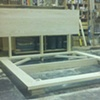 Platform Ash Bed before stain