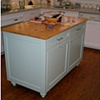 Painted Island with Pine Countertop