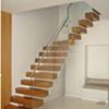Full View  Teak Floating Staircase