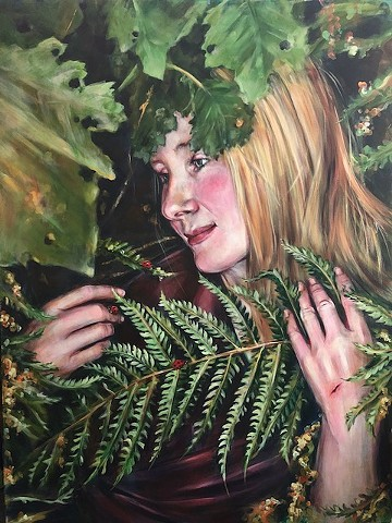 "Alison with Ferns ""Naiad contemplating"""