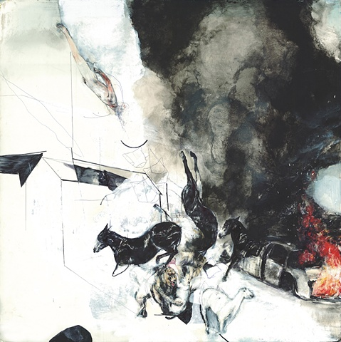 drawing, war, abu ghraib, iraq, horses, contemporary