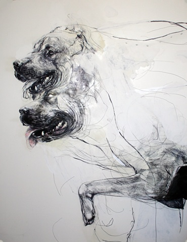 dog, drawing, contemporary, absurd, detailed, graphic