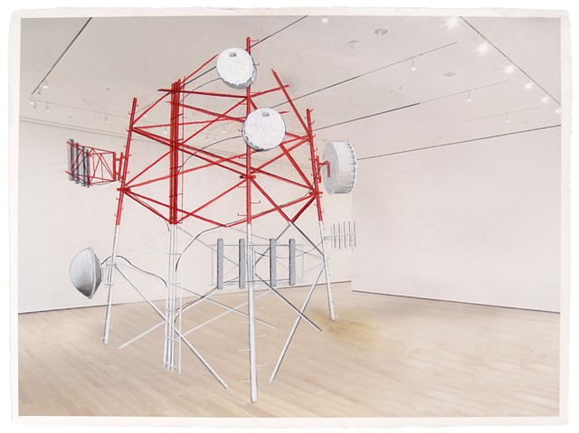Infrastructure Mashup_2: Radio Tower @ MOMA NY