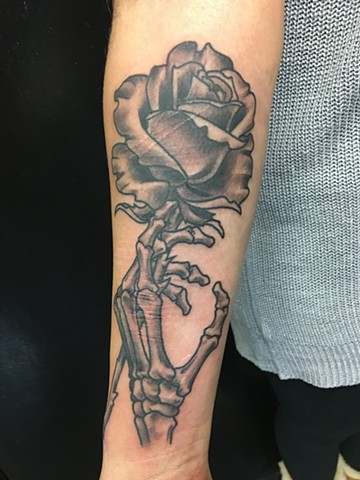 skeleton rose