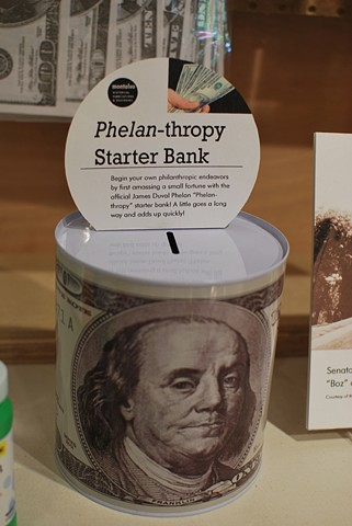 Phelan-Thropy Starter Bank 2012 Modified coin bank