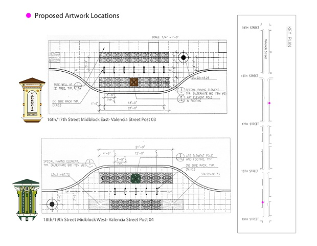 Valencia Street Posts (Site plan)