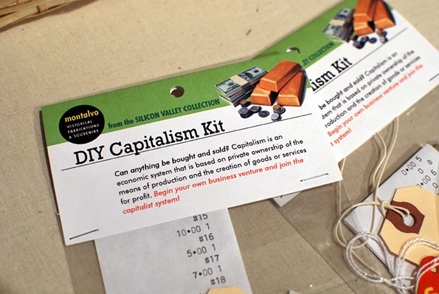 DIY Capitalism Kit 2012 A composition of receipts and tags