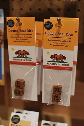 Double-Bear Dice 2012 Repackaged dice