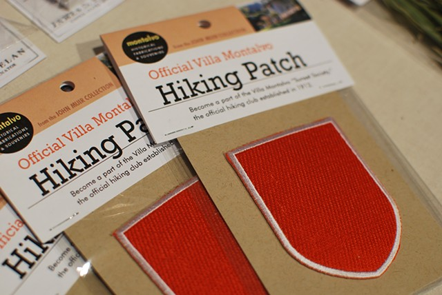Official Villa Montalvo Hiking Patch 2012 Custom patch and packaging