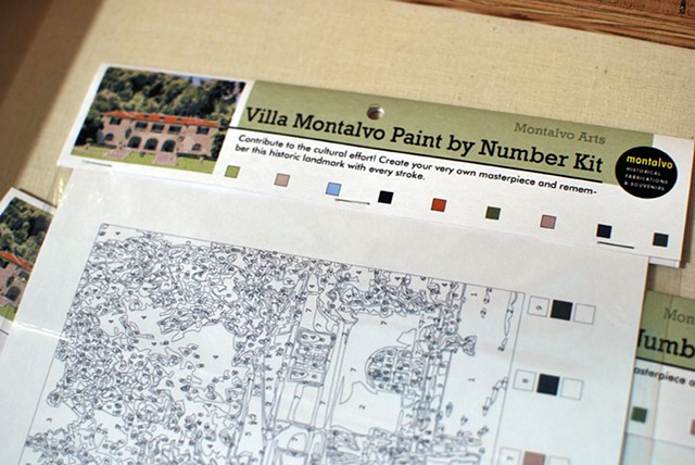 Villa Montalvo Paint by Numbers Kit 2012 Ink-jet print and repackaged paint set