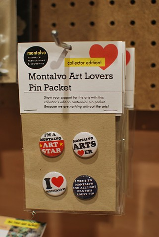 Montalvo Arts Lover Pin Packet 2012 Custom pins and packaging