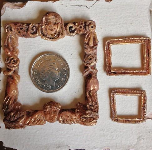 sansovino frame, miniature, dollhouse, art history, italian baroque