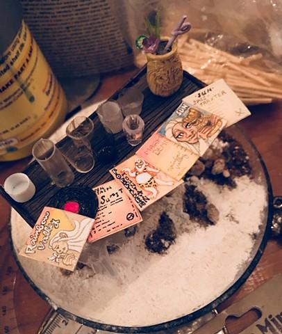 Tiki yeti records miniature dollhouse fabrication