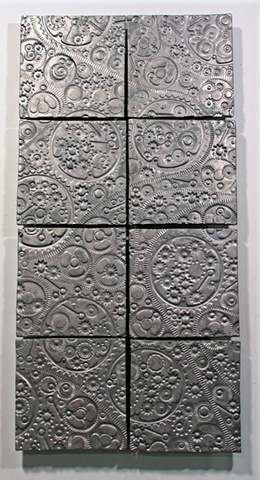 SOLD Pewter Gears - 8 8x8 tiles