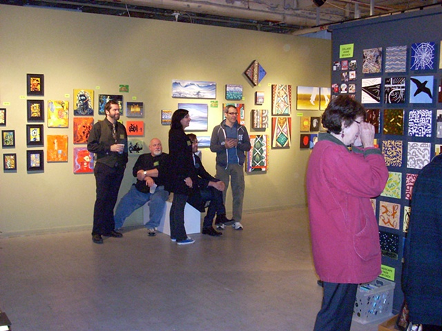 (from left) Artists Bret Graton, Joey Wozniak, Victoria Szilagyi