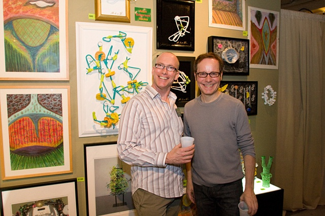 Photo credit Timmy Samuel - artist Edward Master (left)