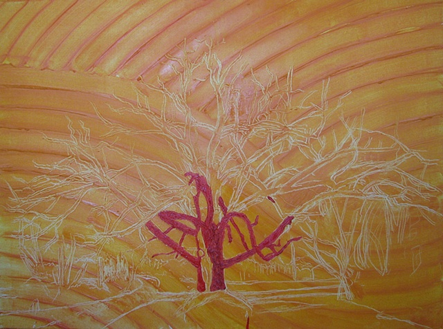 Oak Tree Underpainting 2