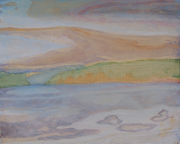 Hemlock Lake Underpainting 3
