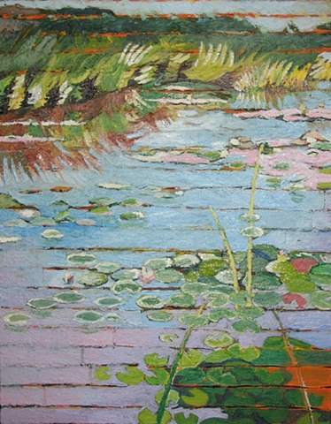 Mendon Ponds Lily Pads Underpainting 3