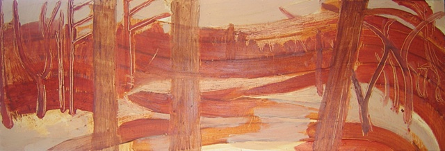 River 3 Underpainting 1