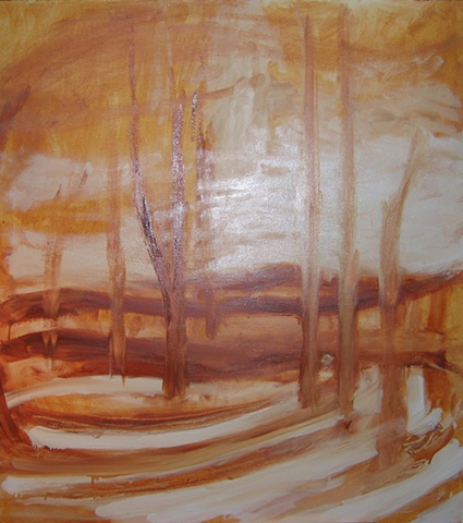 Mendon Ponds 1 Underpainting 1