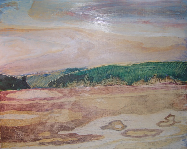 Hemlock Lake Underpainting 2