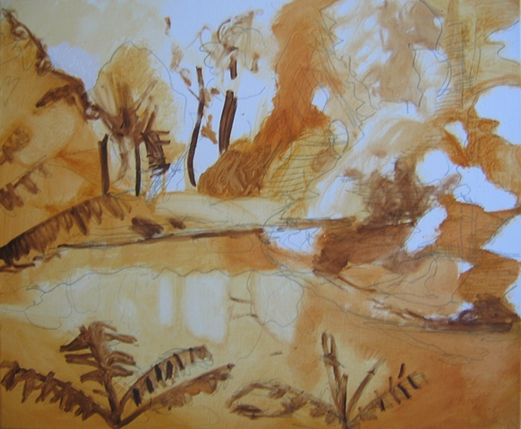 River 1 Underpainting