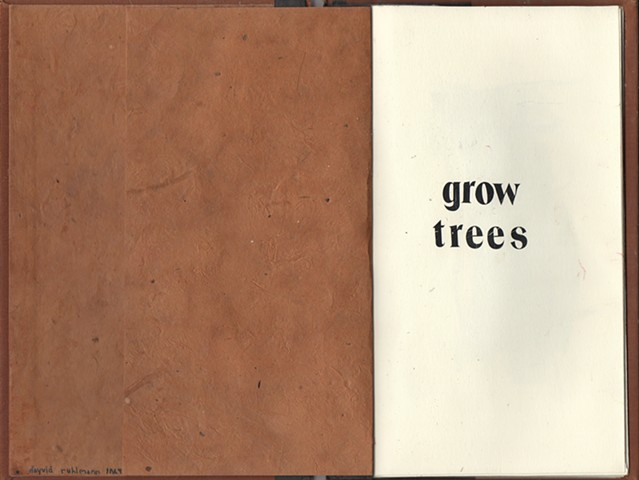 Grow trees (Cover) davidruhlman david ruhlman handmade book