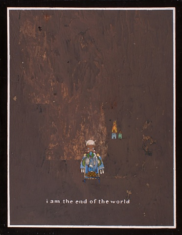 david ruhlman  www.davidruhlman.com self taught artist utah salt lake city davidruhlmann outsider artist self taught artist gouache folk art painting I AM THE END OF THE WORLD