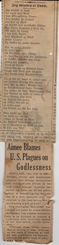 Aimee Blames U.S. Plagues on Godlessness.