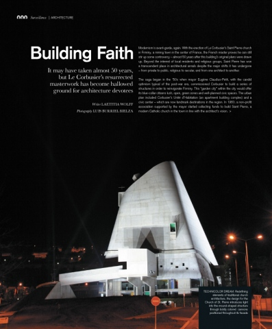 Surface Magazine: Le Corbusier's church