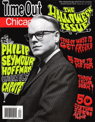 Time Out Chicago Halloween cover with Philip Seymour Hoffman