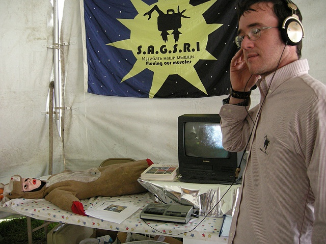 S.A.G.S.R.I. Engineer Monitoring Communications Signals