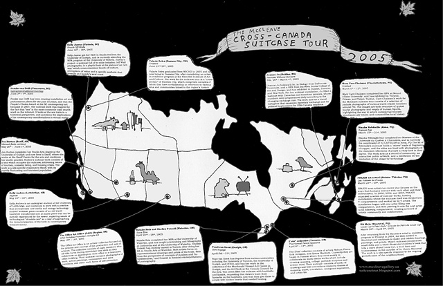 Cross-Canada Suitcase Tour Map