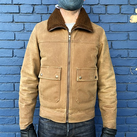 Shearling Lined Wax Canvas Coat