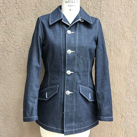 Denim Swedish Military M59 Jacket