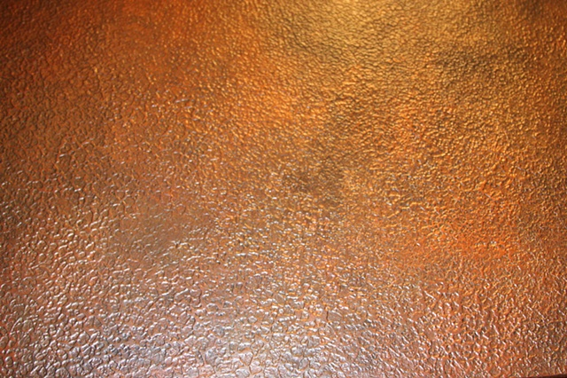 Hammered Copper Stove Hood Close Up