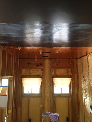 Copper Leaf Ceiling in Progress