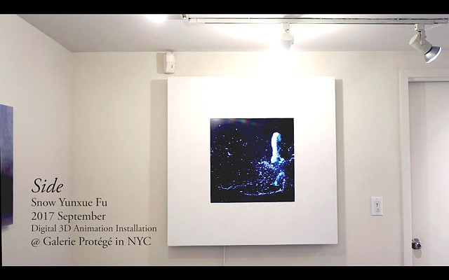 Documentation of Video Installation Piece Side @ Galerie Protégé in New York