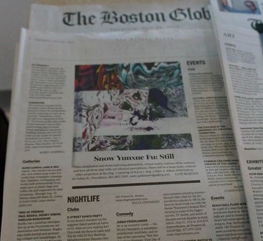 Snow Yunxue Fu's Solo Show Review on the Boston Globe