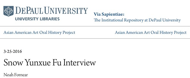 DePaul University Asian Artist Oral History Interview