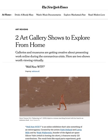 Snow Yunxue Fu's Artwork Featured in The New York Times